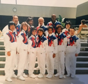 Dan Hee (C) With the 1988 US Women's TKD Team