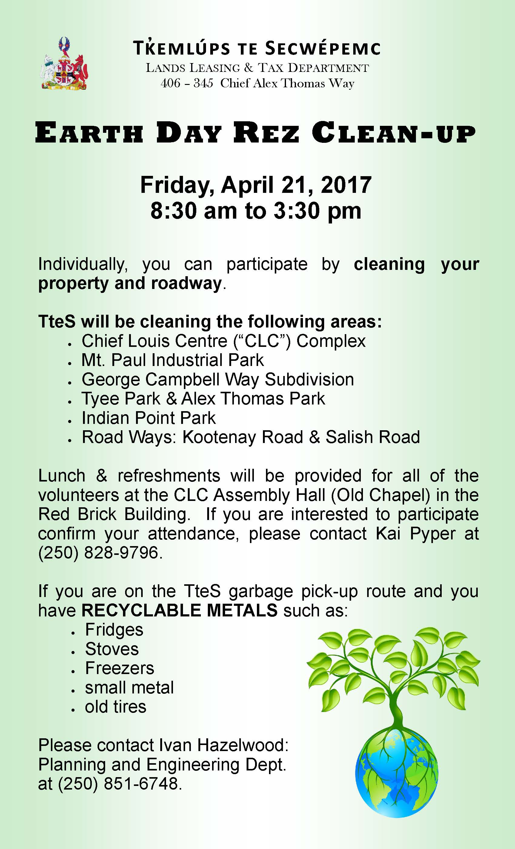 Ttes Annual Earth Day Clean Up