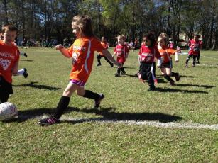 A little soccer action of my daughter Tara