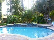 A view of my in-laws back yard- Sunday fun day ends here with dinner
