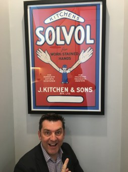 An early Solvol soap poster