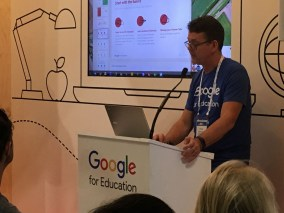 AEL Chris Betcher in action at teh Google stand