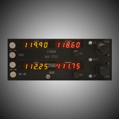 KX170 KX175 Replacement NAV/COMM - MX170C
