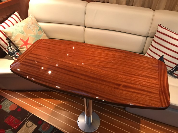 Saloon table for Bill's Sea Ray 340.