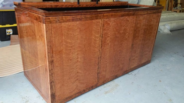 Custom Cherry hardwood 180 gallon fish tank stand