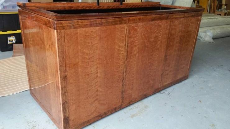 Custom Cherry hardwood 180 gallon fish tank stand