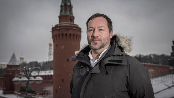 Nathan Hodge, newly appointed CNN Moscow bureau chief seen beside the Kremlin, Moscow, January 11 2018 Photographer: Dmitri Beliakov