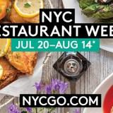 NYC RESTAURANT WEEK JULY 20- AUGUST 14th!