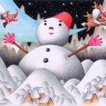 "Illustrations of ""Snowman, White Christmas, Santa Claus, Reindeer"""