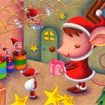 "Illustrations of ""Mouse, Spider, Christmas present, Fantasy Christmas"""