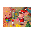 """Illustrations of """"Mouse, Spider, Christmas present, Fantasy Christmas"""""""