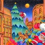 "Illustrations of ""Christmas tree, Santa Claus, Toy, Doll, Christmas Eve"""