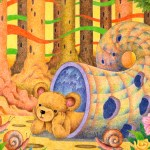 "Illustrations of ""Bear, Snail, Flower, Forest, Conversation"""