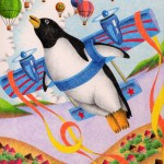 "Illustrations of ""Penguin, Airplane, Flying, Balloon, Flight"""