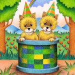 "Illustrations of ""Fox, Child fox, Twins, Brother, Cute animal"""