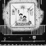 "Illustrations of ""Railroad, Tunnel, Family fellowship, Room, Mysterious space"""
