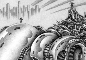 SF,Science fiction,Science fantasy,Imagination,Fantasy,Fantasy science,Pencil drawing,Colored pencil drawing,Analog illustration,Illustration,Art,Painting,Hand drawn illustrations,Battleship,Huge battleship,Space battleship,Huge ship,Warship,Artificial intelligence,Weapons,Final weapon,Super weapon,Future world