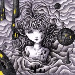"""Illustrations of """"Magnetic field, Android, Different dimension, Girl"""""""