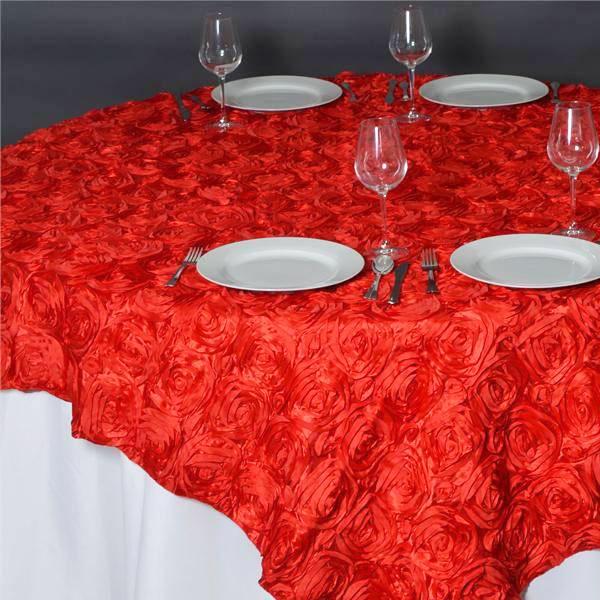 Square Satin Table Overlay Rental in Gardena