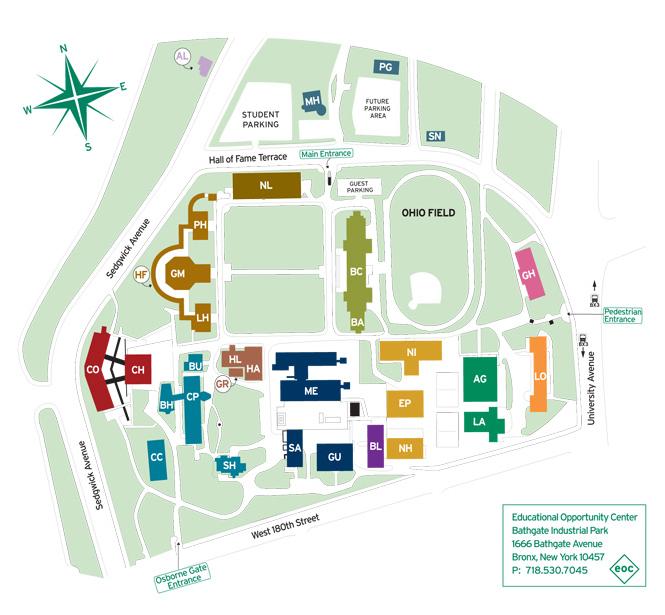 University Fordham Campus Rose Hill Map