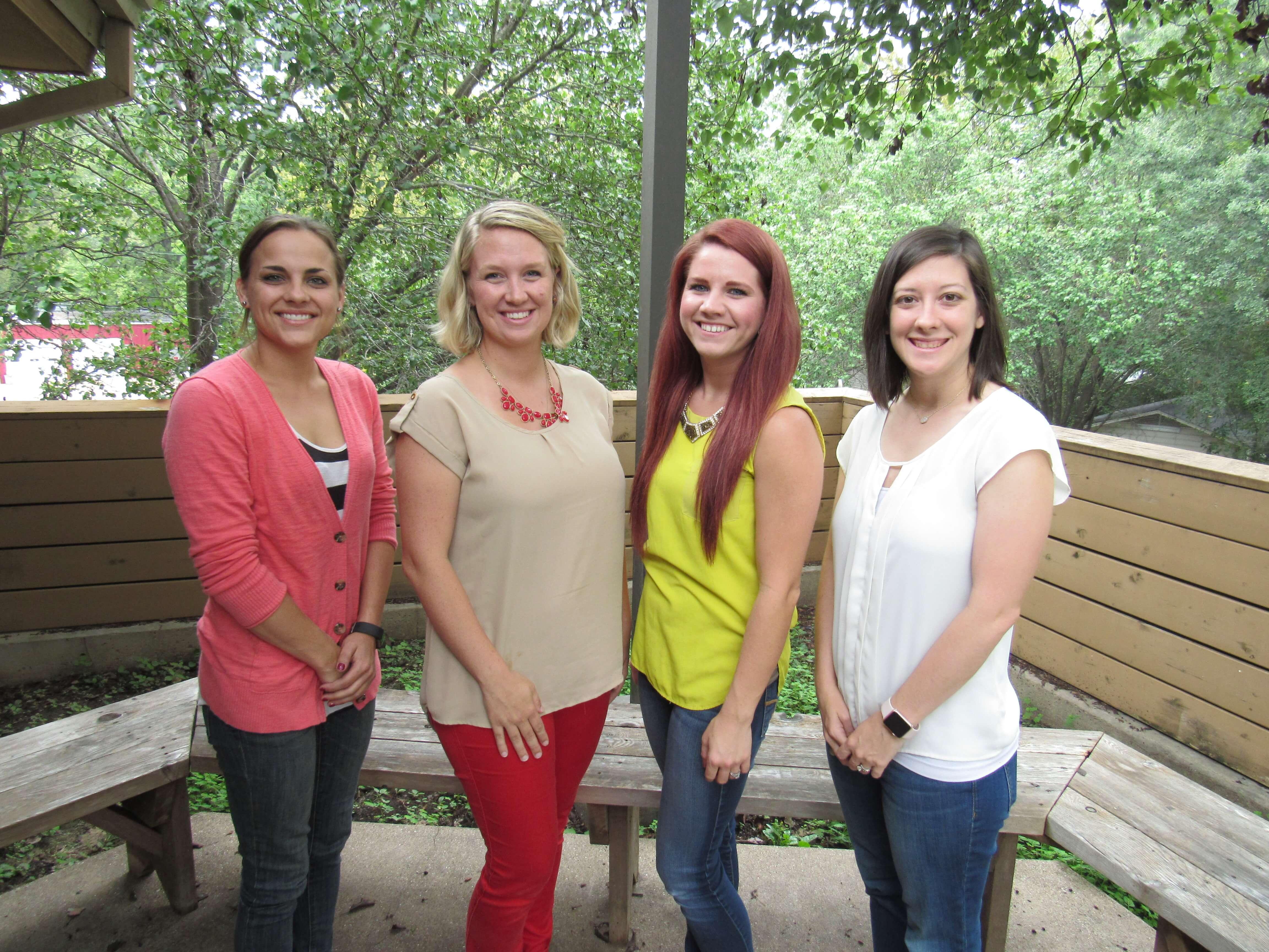 Brittany Jordan, Whitney Sherman, Rachel Massey, Mollie Eaton