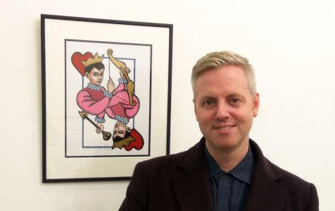fraser crawford with artwork