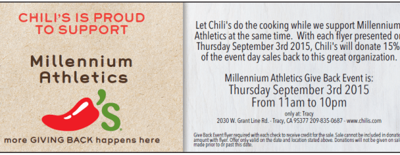 Chili's fundraiser flyer