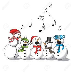 Snowman singing -choir