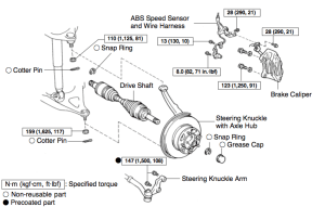 Toyota front end diagram