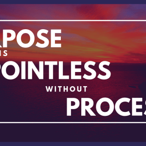 Purpose is Pointless Without Process
