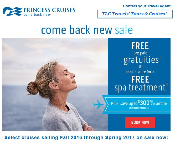 Princess Cruises' Come Back New Sale!