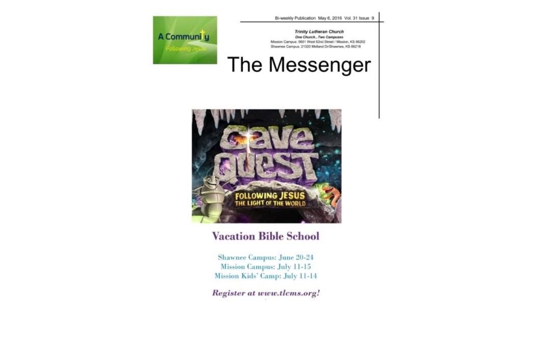 May 6, 2016 Messenger