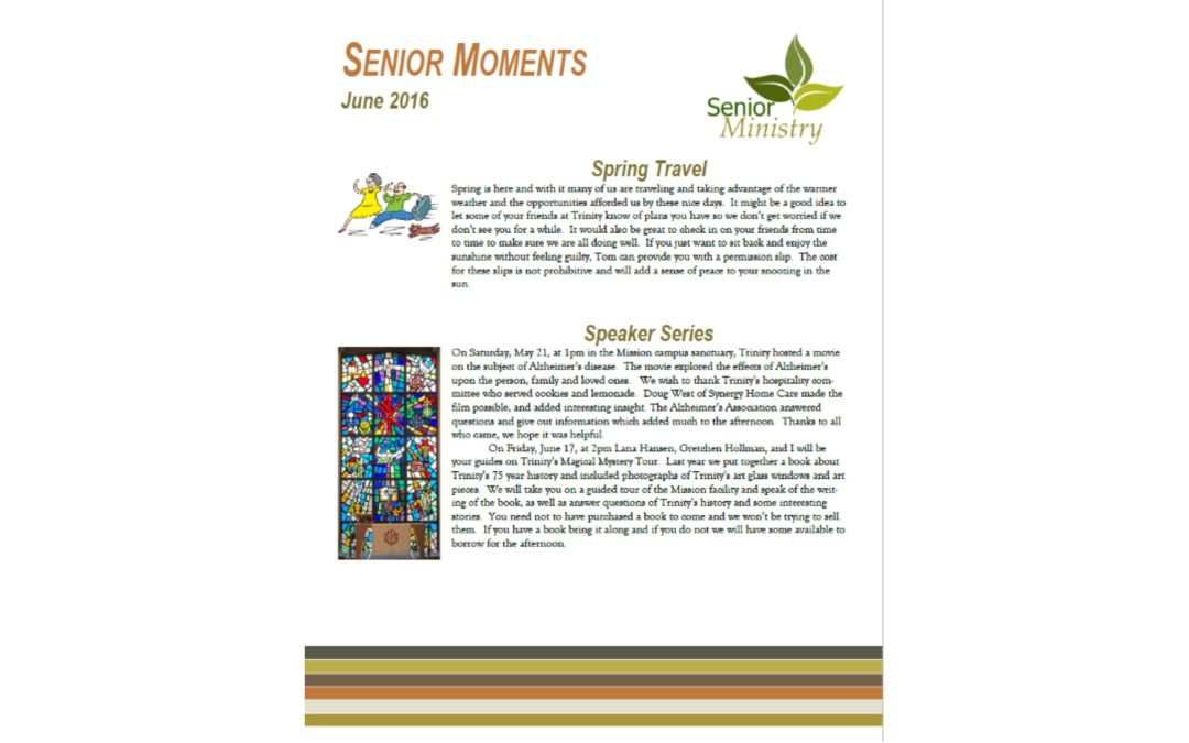 Senior Moments June 2016