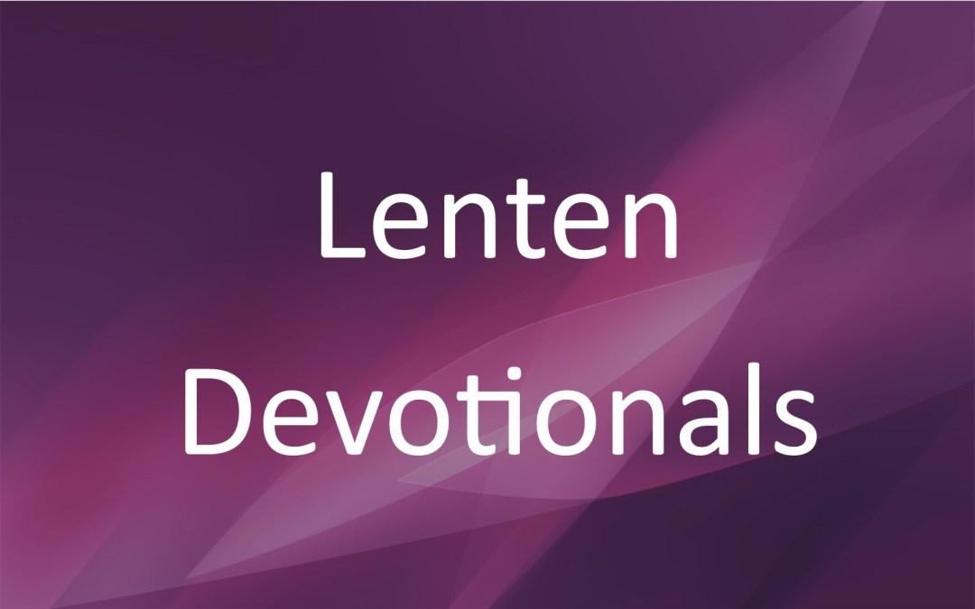 Lenten Devotionals 2017