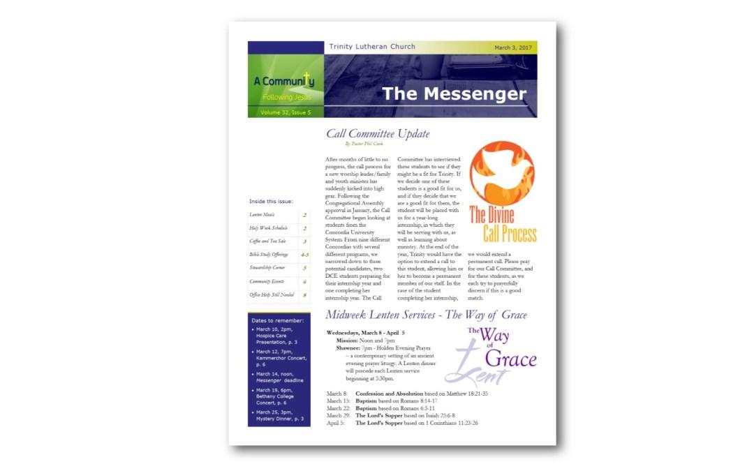 March 3, 2017, Messenger