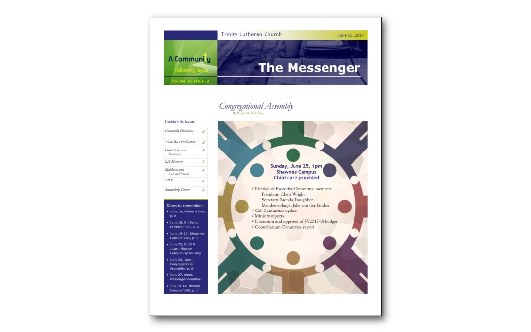 June 16 Messenger