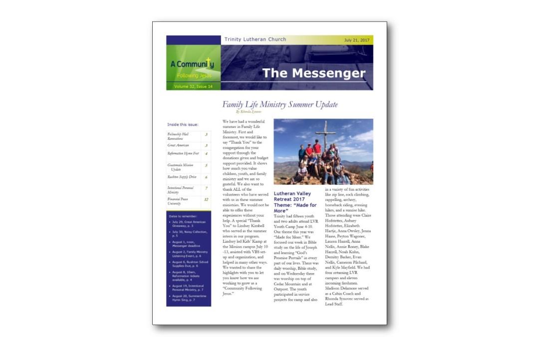 July 21 Trinity Messenger