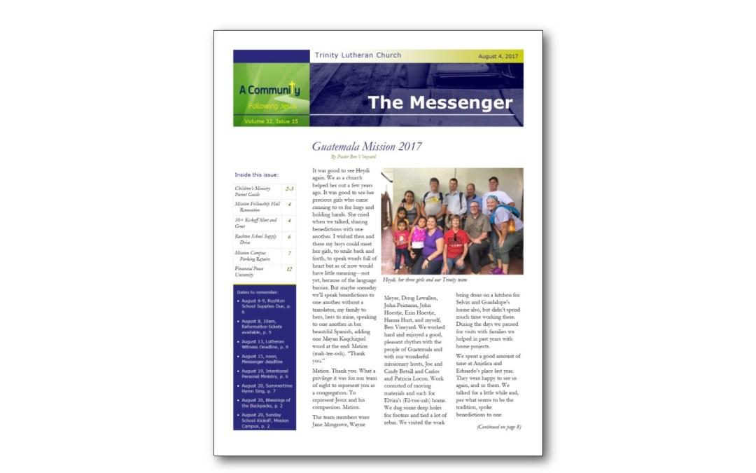 August 4 Messenger