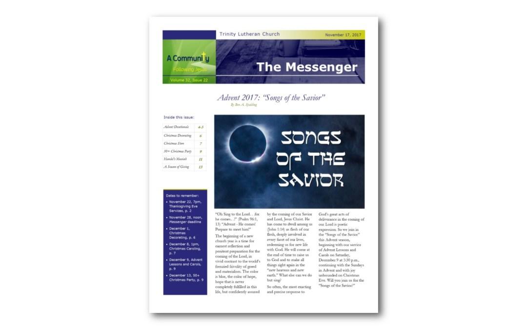 November 17 Trinity Messenger