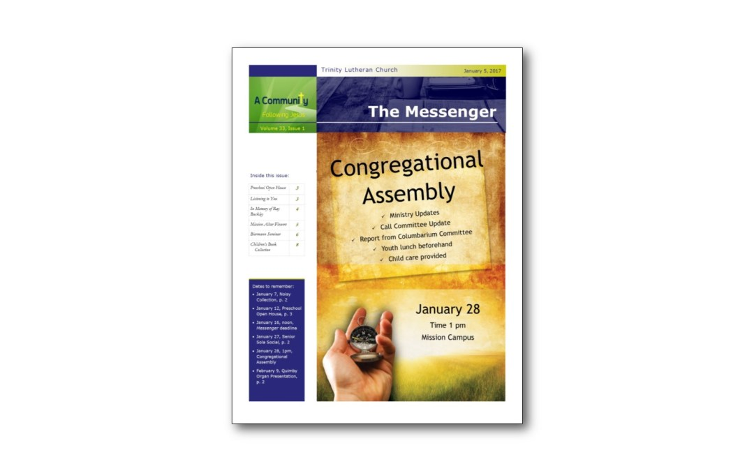 January 5 Trinity Messenger