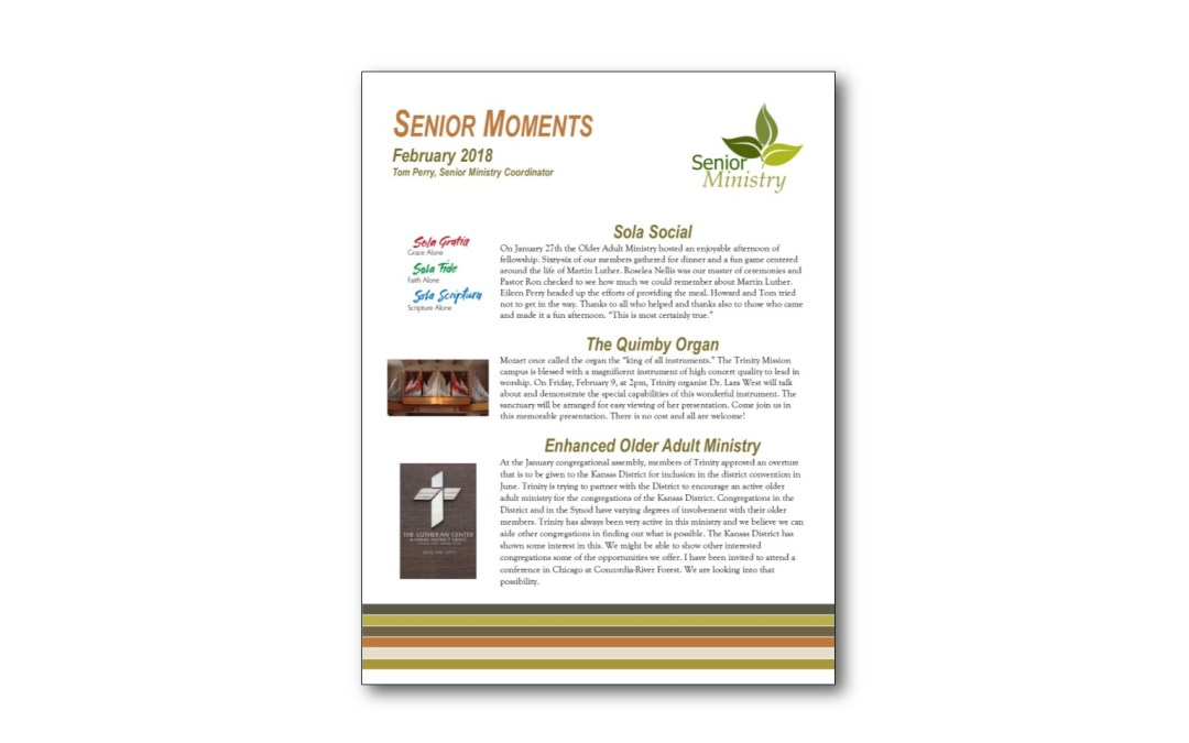 February Senior Moments Newsletter