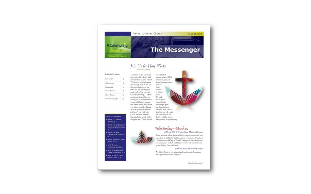 March 16 Trinity Messenger