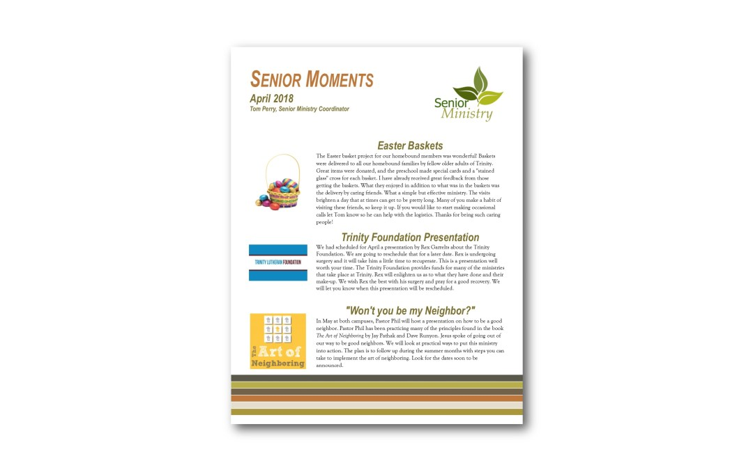 April Senior Moments Newsletter