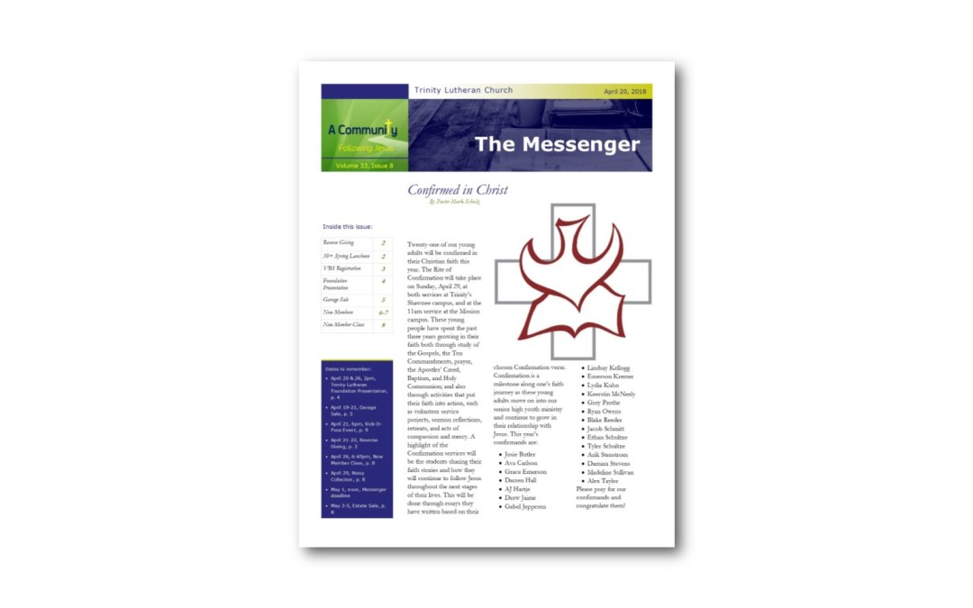 April 20 Trinity Messenger
