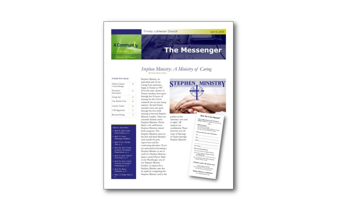 April 6 Trinity Messenger
