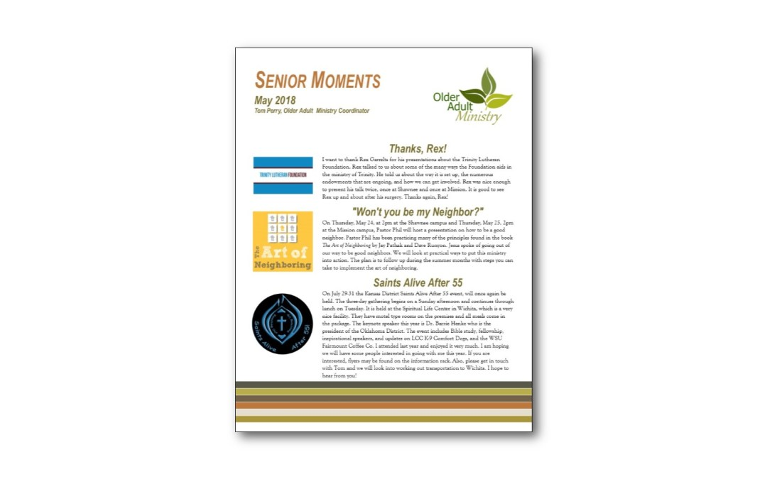 May Senior Moments Newsletter