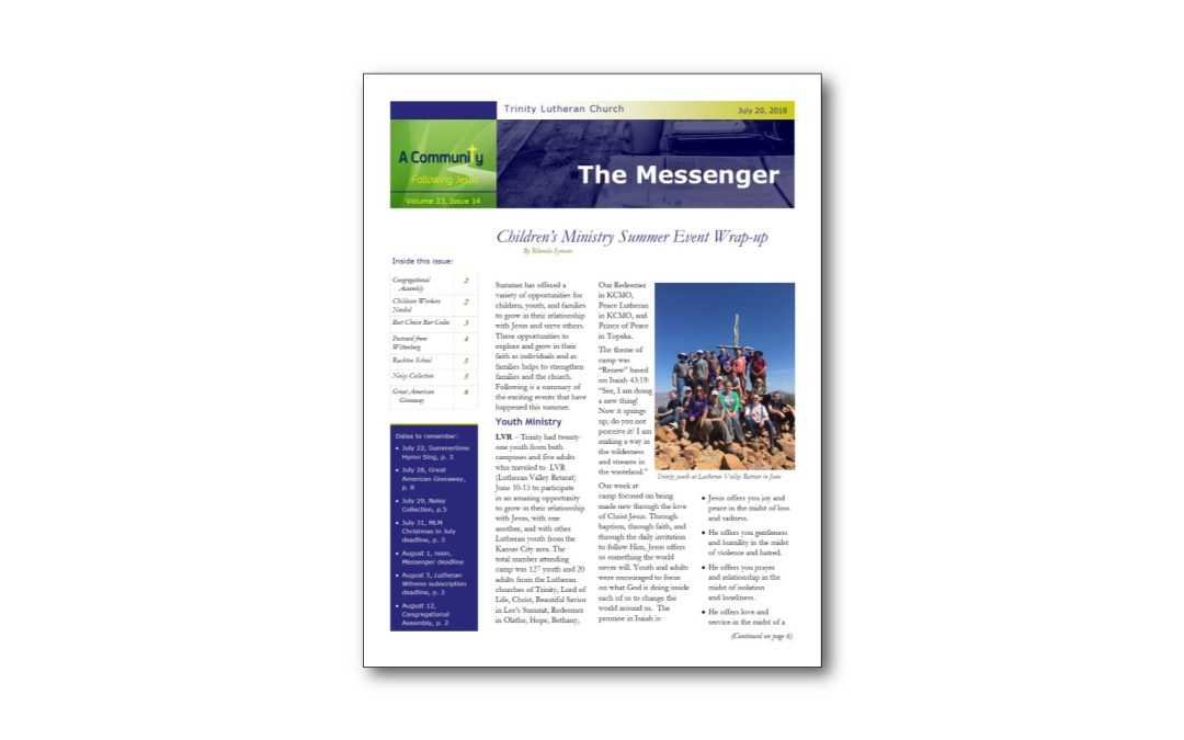 July 20 Trinity Messenger