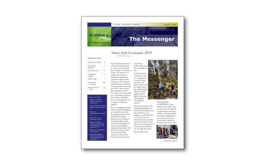 August 3 Trinity Messenger