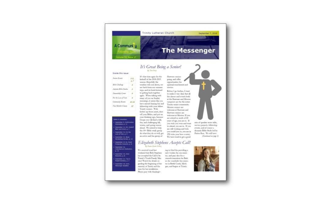 September 7 Trinity Messenger