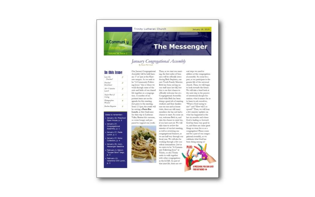 January 18 Trinity Messenger